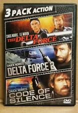 DELTA FORCE, DELTA FORCE 2, CODE OF SILENCE, 3 PACK ACTION W/CHUCK NORRIS