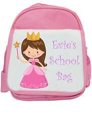 personalisiert Mädchen Spielschule Kindergarten Schule, Rucksack - Prinzessin