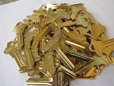 Key Blanks SC1 for Locksmith Lot Of 100 Pcs of Key Schlage SC1 Brass Brand New