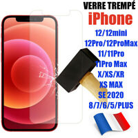 iPhone 6 7 8 XR XS 11 12 PRO MAX SE Vitre protection verre trempé film écran
