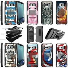 For Samsung Galaxy S8 Plus Dual Layer + Stand Holster Clip Case - Animal Designs