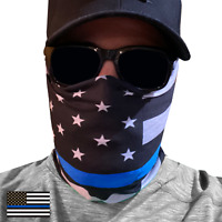 Thin Blue Line Police Law Enforcement Face Cover Mask