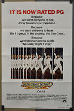 SATURDAY NIGHT FEVER ORIGINAL 27X41 FOLDED MOVIE POSTER ALAN ALDA JOHN TRAVOLTA