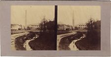 Paysage industriel Malaise France Photo Moulin Stereo Vintage albumine ca 1860