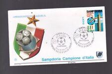 busta francobollo filagrano SAMPDORIA CAMPIONE D'ITALIA 1990-91 calcio lazio