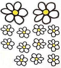 White Daisy Flowers -  Sticker Decal
