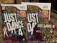 Just Dance 4 - Nintendo  Wii Game ~FREE FAST US SHIPPING Complete With Manual