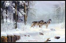 Deep Winter Wolves - Chart Counted Cross Stitch Pattern Needlework Xstitch DIY