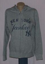 New York Yankees Womens Hoodie Majestic Full Zip Hooded Sweatshirt - MLB