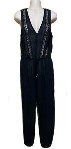 ZIMMERMANN Black Sleeveless Jumpsuit - Sz 1 (AU-UK 10 / US 6 / Eu38 It42)