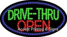DRIVE-THRU OPEN Flashing & Animated Real LED SIGN