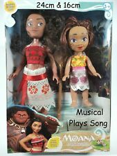2 x Moana Doll Set Princess Figure Singing Disney Movie Song Children Model Gift