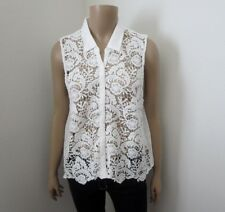 NEW Abercrombie Womens Lace Sleeveless Tank Top Size Small White