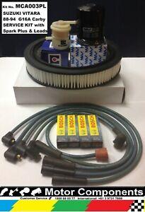 MAJOR SERVICE KIT SUZUKI VITARA G16A CARBY 88-94 Filters Plugs & Ignition Leads