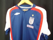 England Umbro Football Soccer Authentic England Nationwide Quarter Zip Shirt L