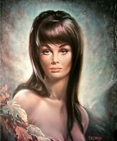 AUTUMN LEAVES  J H Lynch from the Tretchikoff Era - Vintage Kitsch Art Print  A3