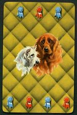 Vintage Playing Swap Card : PRIZE WINNING DOGS