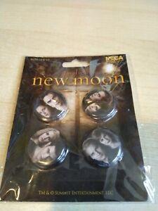 The Twilight Saga New Moon 4 pin / badge set The Cullens - New