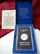 1883 CARSON CITY MORGAN SILVER DOLLAR GSA UNCIRCULATED $1 COIN WITH BOX & COA