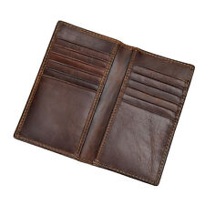 Men Leather Wallet Long Bifold Money Card Holder Purse Clutch Father's Day gift