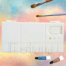 25 Grids Large Art Paint Tray Artist Oil Watercolor Plastic Palette White New