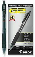 2 BOXES Pilot G2 Retractable Gel Pens Fine Point, Black Ink 12/Pack (24) * 31020