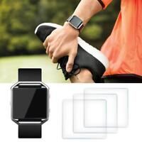 3Pcs Premium Tempered Glass Film Screen Protector for Fitbit Blaze Smart Watch W