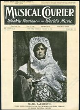 Maria Barrientos opera star photo Musical Courier framing cover Feb 31 1918