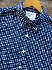 ABERCROMBIE & FITCH ! MENS M 40 ! LONG SLEEVE BUTTON DOWN CHECK SHIRT MUSCLE TOP