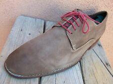 COLE HAAN Mens Dress Shoes Soft Tan Nubuck Leather Plain Toe Oxfords Size 10.5M