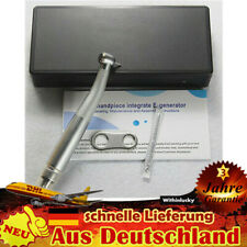 Dental LED Fiber Optic Turbine Handpiece Handstück High Speed 4 Loch push button