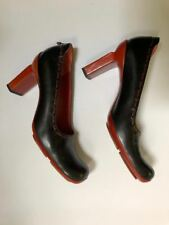80s Graye women's Black and rust Heels Slip-on With Box EU Size 40 / 10m Italy