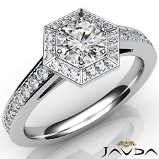 1.7ctw 6 Prong Classy Round Diamond Engagement Ring GIA E-VS1 White Gold Rings