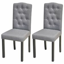 vidaXL Dining Chairs 4 pcs Light Grey Fabric