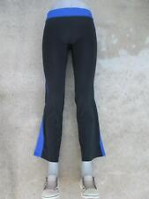 New Balance NB Yoga Workout Pants Sz S Bootcut Stretch Black Blue