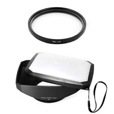 77mm 16:9 Wide Lens Hood,MCUV Filter for Sony SLT-A37,A57, A77, A65 DSLR,NEW,USA