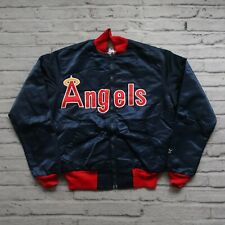 Vintage 80s California Angels Satin Jacket by Starter Anaheim Los Angeles