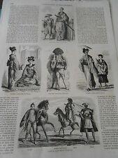 Gravure 1862 Voyage au Japon Armée femmes le bain Barbier Une Rue