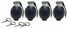 4 Pack BLACK Toy Dummy Grenades