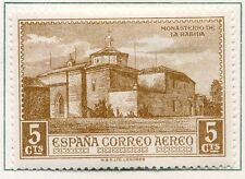 SPAIN;  1930 early Columbus AIR  issue fine Mint hinged 5c.