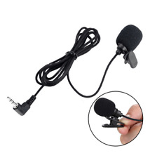 Mini Studio Speech Microphone Mic 3.5mm Clip On Lapel for PC Desktop Notebook .
