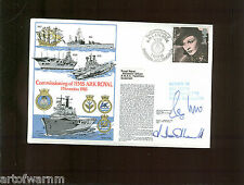 Rn series 4 # 16 - Commissioning Of Hms Ark Royal 1985 Postal Cover