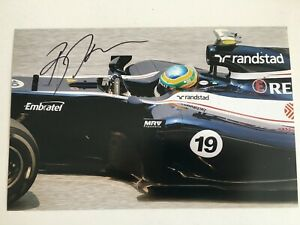 Bruno Senna signed Williams F1 A4 photo