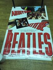 BEATLES - 1987 U.S. PROMO POSTER FOR ABBEY ROAD / LET IT BE CD RELEASE - C @@ L