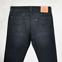 Mens LEVIS 510 Skinny Jeans Size W33 L32 Slim fit Stretch Denim Dark Grey Zip