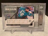 Beckett Graded 9 Mint 2018-19 SP Game Used BRENT BURNS Jersey Relic 122/125