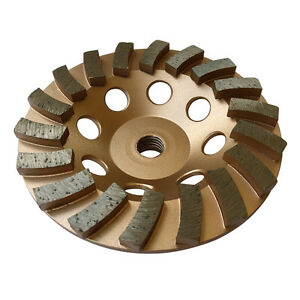 "5"" Concrete Grinding Cup Wheels 18 Diamond Abrasive Seg 5/8""-11 Arbor"