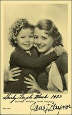 3 Shirley Temple & Janet Gaynor Preprinted Signed Photos Pictures NEW Preprints