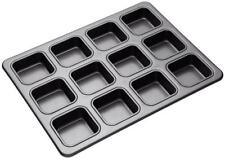 Master Class Professional 12 SQUARE Hole Muffin / Brownie Baking Non Stick Tray