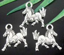 Free Ship 75Pcs Tibetan Silver Horse Charms 16x14mm